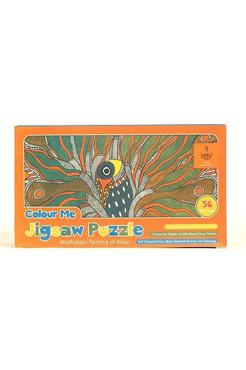Colour me Jigsaw Puzzle - Madhubani Painting