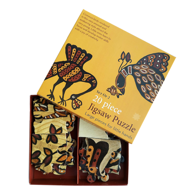 FroggMag - Jigsaw Puzzles - 20 pcs - Sohrai Art - Birds
